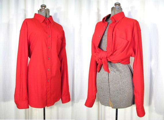 Vintage Western Shirt / Red Flannel Pendleton Long