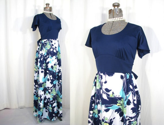 1960s Maxi Dress | Vintage Hawaiian Dress | 60s Ti