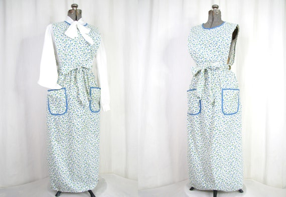Vintage Full Apron/ Victorian Prairie Maxi Dress A