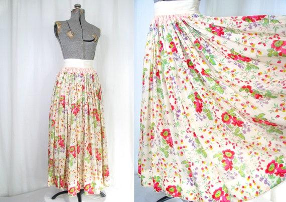 Vintage Victorian Skirt | 1910s Edwardian Floral S