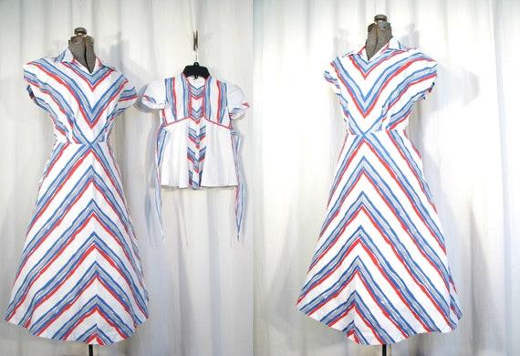 Vintage 1940s Dress | VE WW2 Mother & Daughter Dre