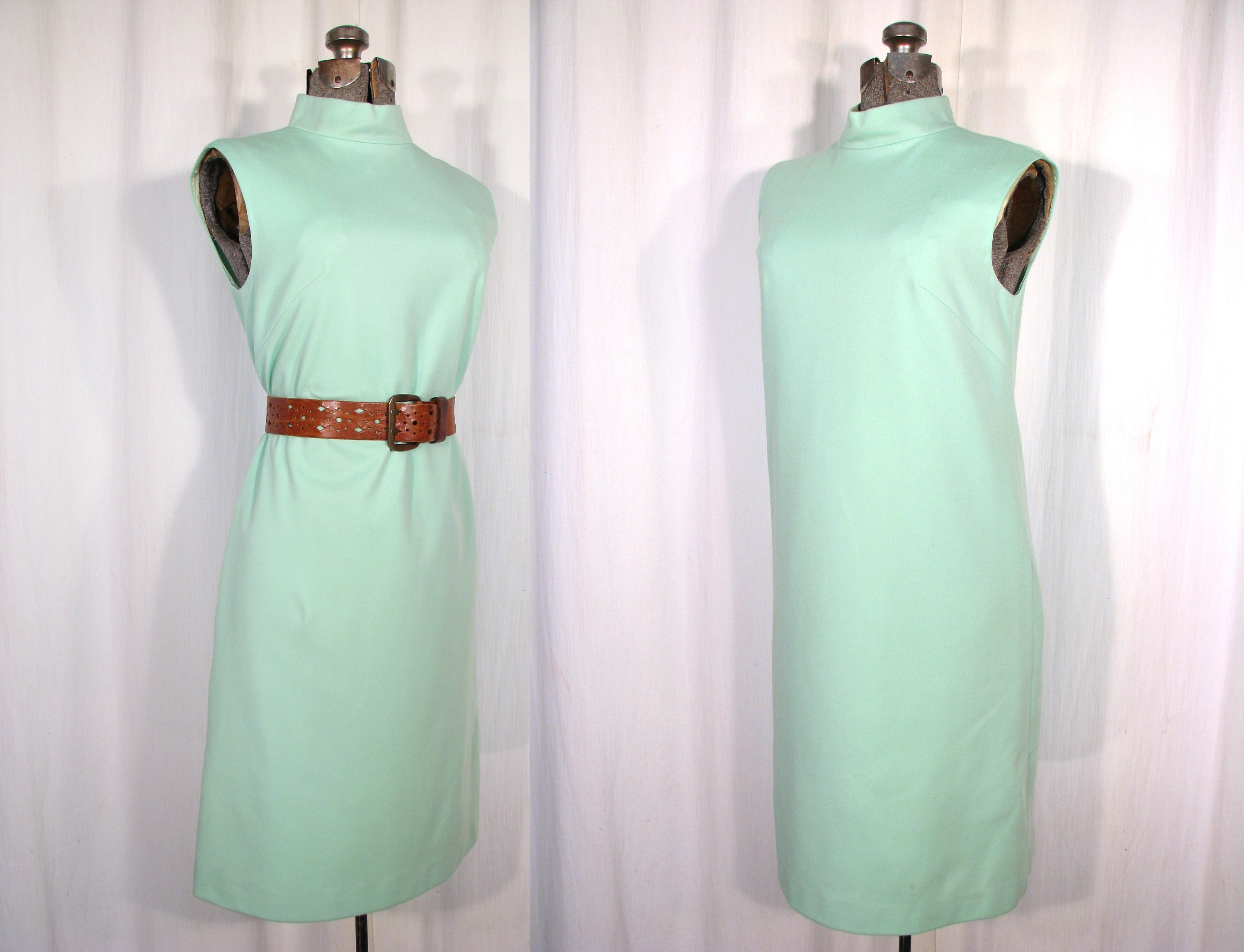 60s -70s Jewelry – Necklaces, Earrings, Rings, Bracelets 1960S Dress, Mint Green Mod Midi $25.75 AT vintagedancer.com
