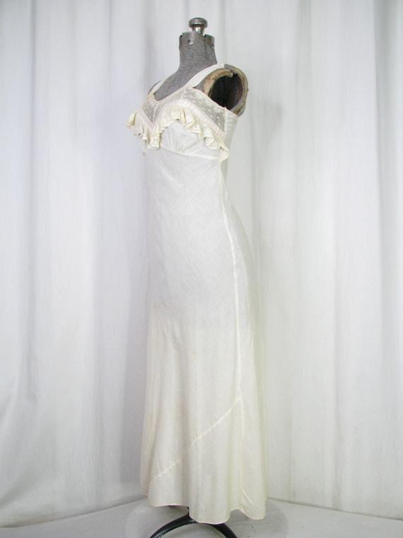 Vintage Nightgown, Bias Cut Cotton Victorian Chem… - image 8