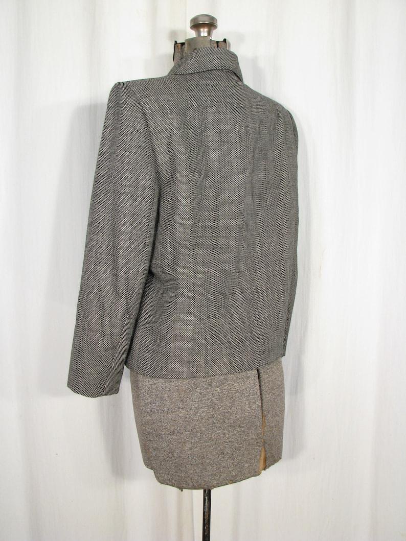 Vintage 50s Suit Jacket Grey Dress Coat Medium 1950s Blazer