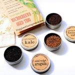 DIY Microgreens CUSTOM Mini Seed Kit Indoor Garden - Choose Any 3 Organic Vegan Gourmet Microgreens Seeds in Reusable Muslin Gift Bag