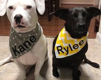 Personalized Dog Bandana - Dog Bandana - Custom Dog Bandana - Pet Bandana - Pet Neckwear - Dog Clothing - Dog Gift - Pet Accessories - Dog
