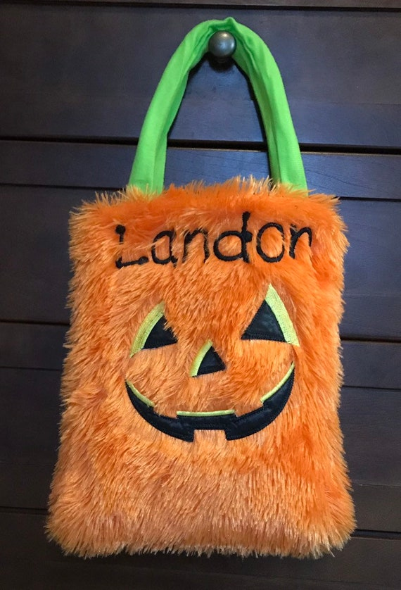 Halloween Trick Or Treat Bags Personalized.Trick Or Treat Bag Personalized Pumpkin Bag Halloween Pumpkin Personalized Pumpkin Personalized Halloween