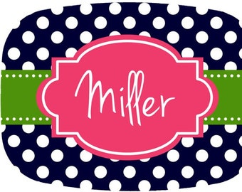 Personalized Melamine Platter - Custom Personalized Tray holiday Monogram