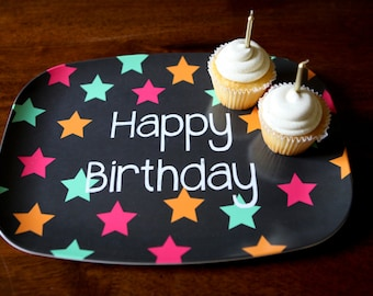 Personalized Melamine Platter - Custom Birthday Tray holiday celebration