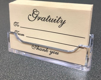 Gratuity Envelopes - Box of 200 - Increase Your Tips!