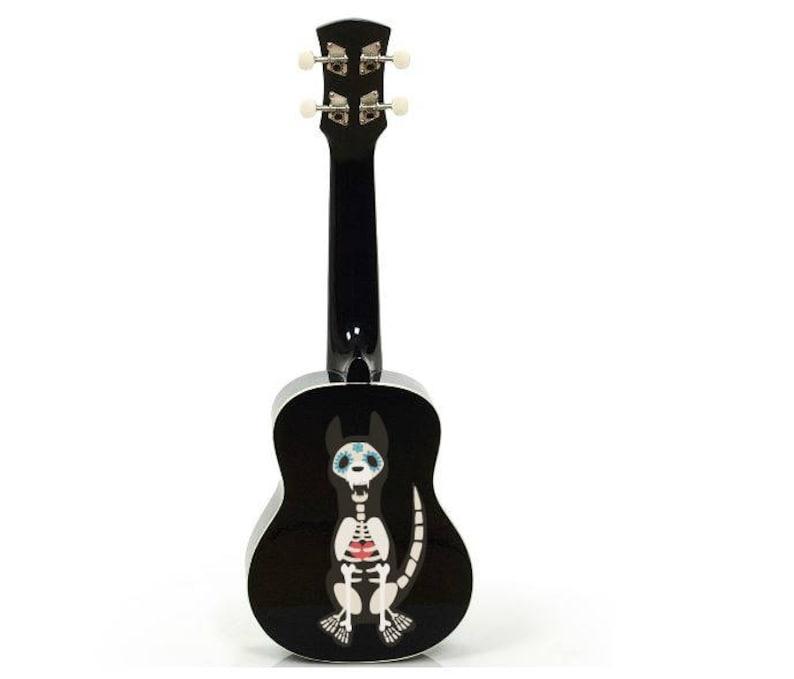 Halloween Dia de los Muertos Day of the Dead Dog ukulele image 0