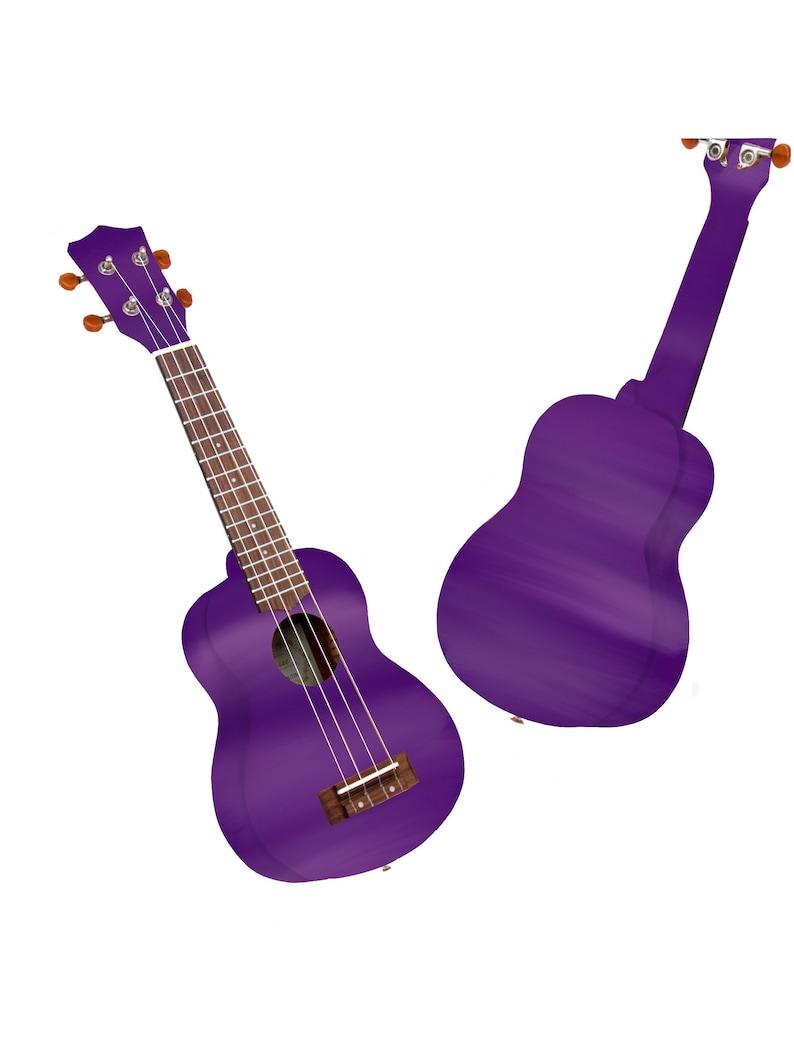 Soprano Ukulele Hand Painted Ukulele Decorated Ukulele Full Purple