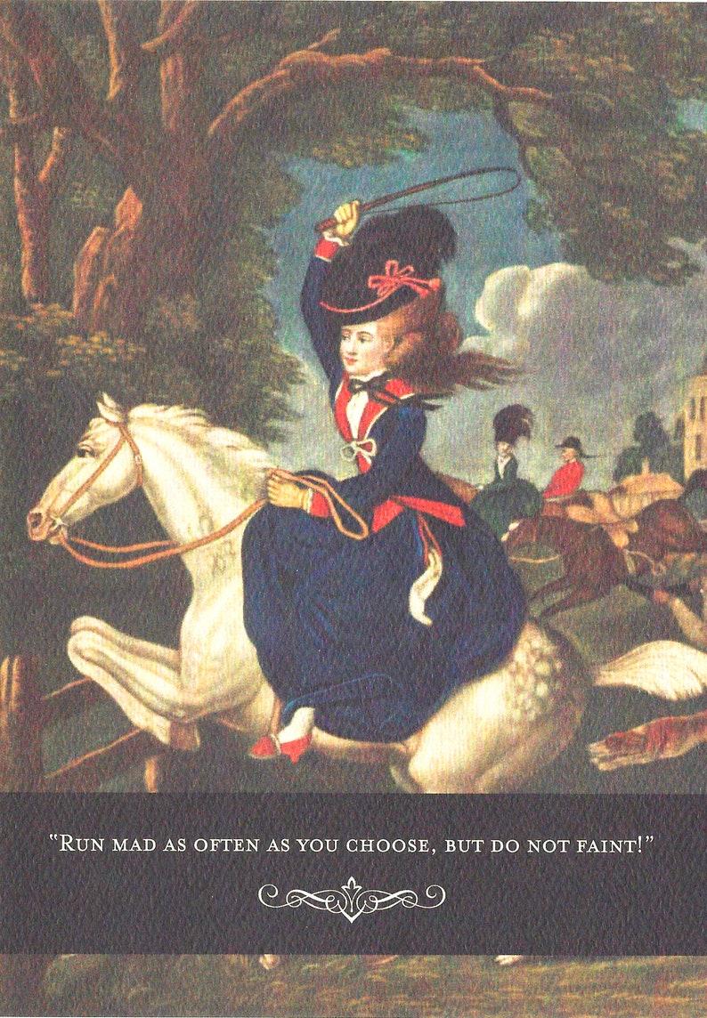 L 105 Jane Austen Horse Lover's Birthday