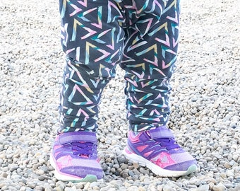 2T - Brushed Triangle Harem Pants, Baby and Kids Harem Pant Leggings, Geometric, Shapes, Triangles Baby Pants