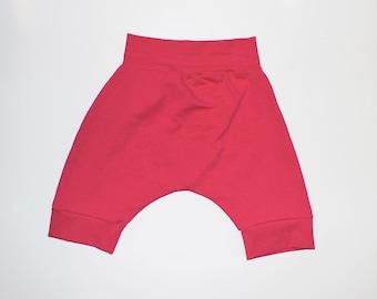 3T, 5T - Hot Pink Harem Shorts, Summer Shorts