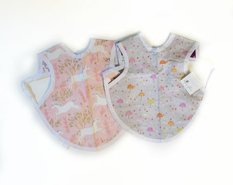 6-24m Toddler Bapron, Apron Bib, Self Feeding, Painting, Art Smock, Baby Bapron, Reversible