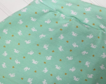 Baby Dragons in Mint Harem Pants, Baby and Kids Harem Pant Leggings, Magic, Enchanted, Dragons and Crowns