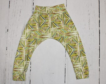 5T - Lime Lines, Baby and Kids Harem Pant Leggings