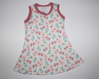 2T Spring Buds Knit Tank Dress, Girls Floral Tank Top Dress, Spring Summer Dress, Easter Dress