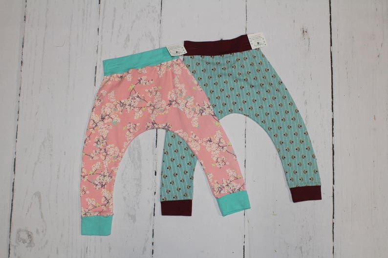 2T Harem Pants Baby and Kids Harem Pant Leggings Cherry image 0