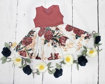 Tulip Swing Dress, Spring Summer Full Circle Tank Dress, Easter Dress, Girls Twirl Dress