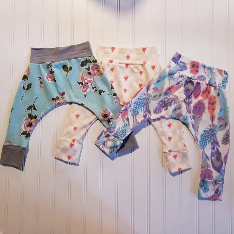 6-12month  Girls Harem Pants Baby and Kids Harem Pant image 0
