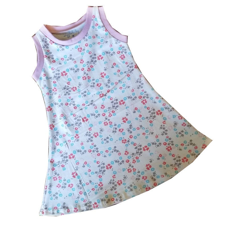Organic Blossom Tank Dress Girls Knit Dress Summer Dress image 0