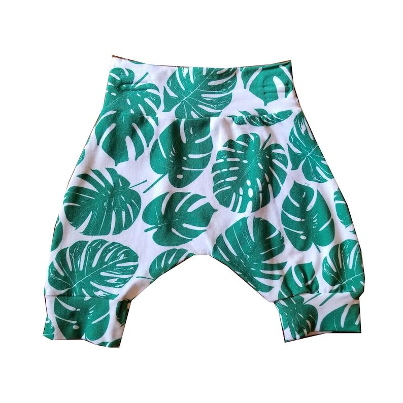 12-18M  Palm Leaves Harem Shorts Summer Shorts Boys Girls image 0
