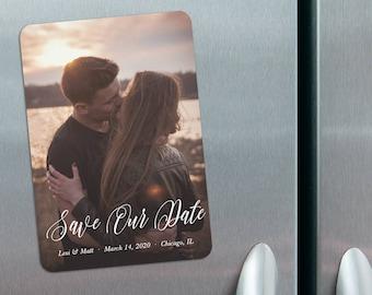 Together Forever - Photo Wedding Save the Date Magnets + Envelopes