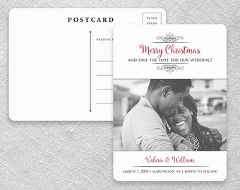 A Partridge in a Pear Tree - Postcard - Wedding Save-the-Date