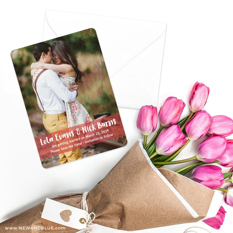Breckenridge Envelope Save the Date Card Includes Back Side Printing