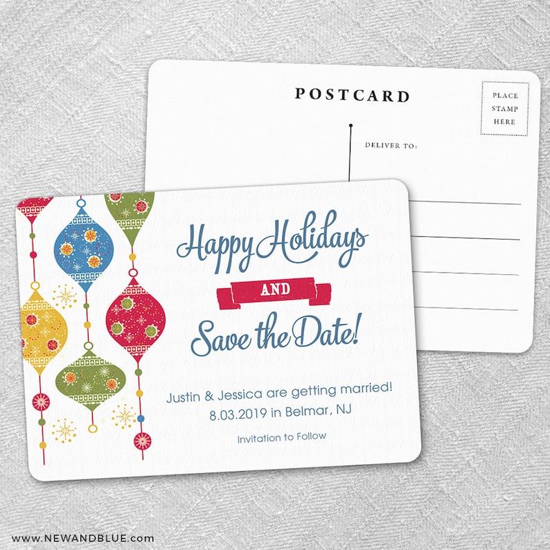 Save-the-Date Jingle Bells Postcard