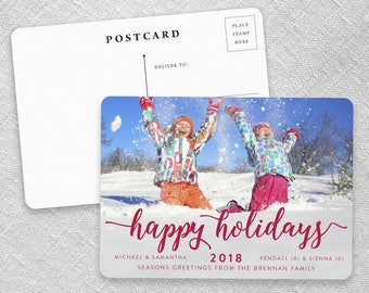 Handwriting Holiday - Postcard - Save-the-Date
