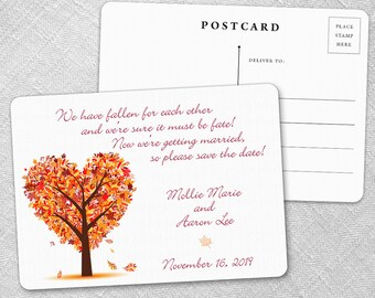 Autumn Romance - Postcard - Save-the-Date