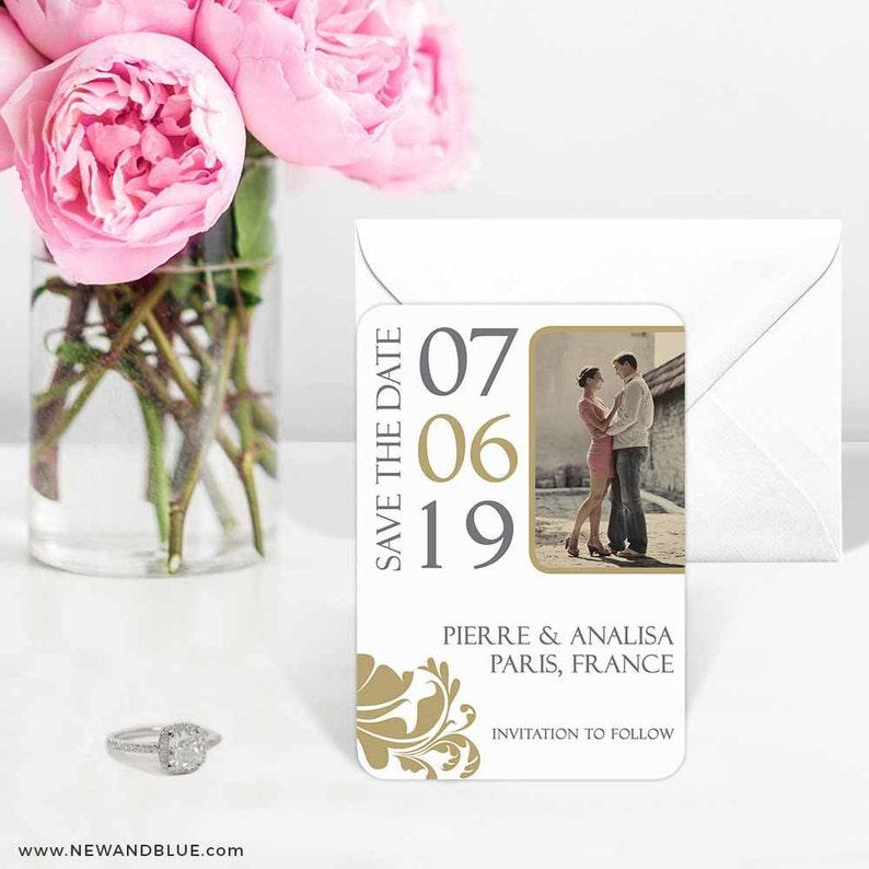 Magnet Timeless Romance Save the Date Envelopes