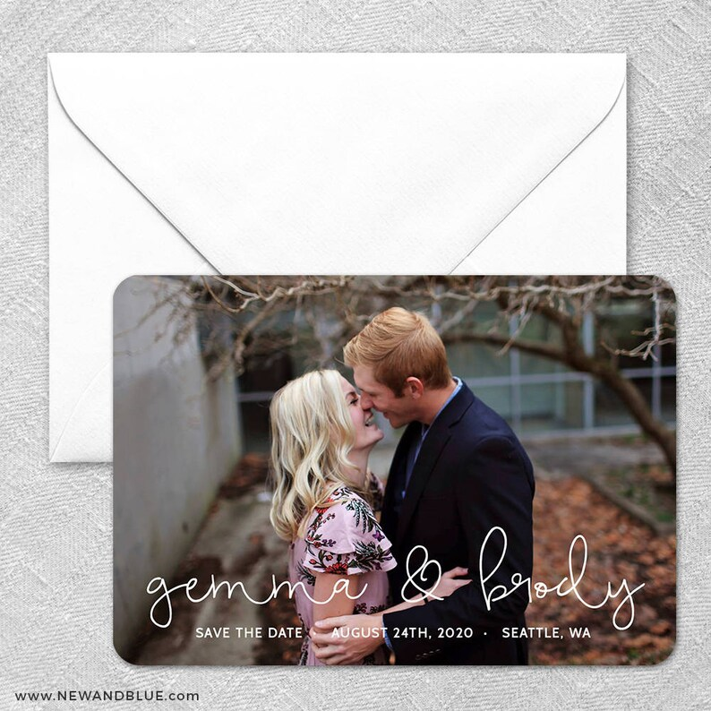 So in Love Envelopes Photo Wedding Save the Date Magnets