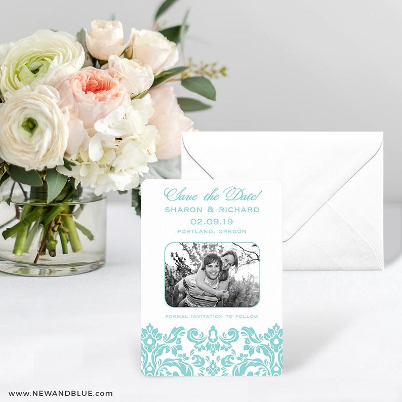 Grace Includes Back Side Printing Card Envelope Save the Date