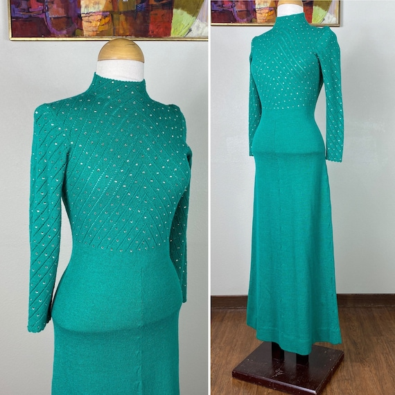 Vintage Sweater Dress / 1960s designer dress / Ann