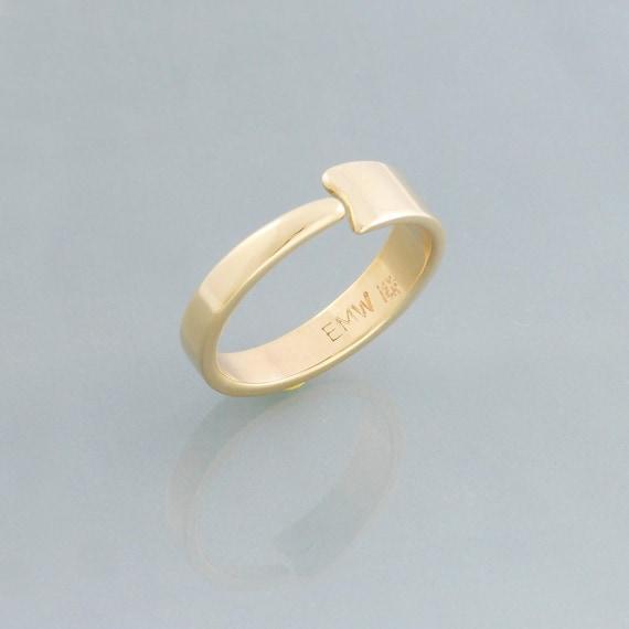 14k Gold Ring For Women Unique Wedding Ring Women Modern Etsy