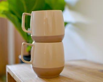 Tan Plastic Mugs (2)