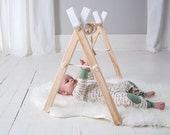 Baby Gym - Baby Play Gym - White Baby Gym - Baby Activity Gym - Wooden Baby Play Gym - Activity Gym - Baby Gift - Gender Neutral