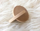 Montessori Baby Toy - Wood Grasping Disc - Montessori Toy - Grasping Toy - Rolling disc - Interlocking Disc - Natural Toy