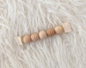 Wooden Baby Toy - Montessori  Baby Toy - Waldorf Baby - Grasping Toy -Teething Toy - Grasping Beads - Natural Baby Toy - Baby Gift