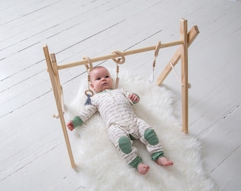 Baby Play Gym - Baby Mobile - Baby Activity Gym - Wooden Baby Gym - Activity Gym - Baby Gift - Wooden Mobile -  Boho Baby Shower - Timber