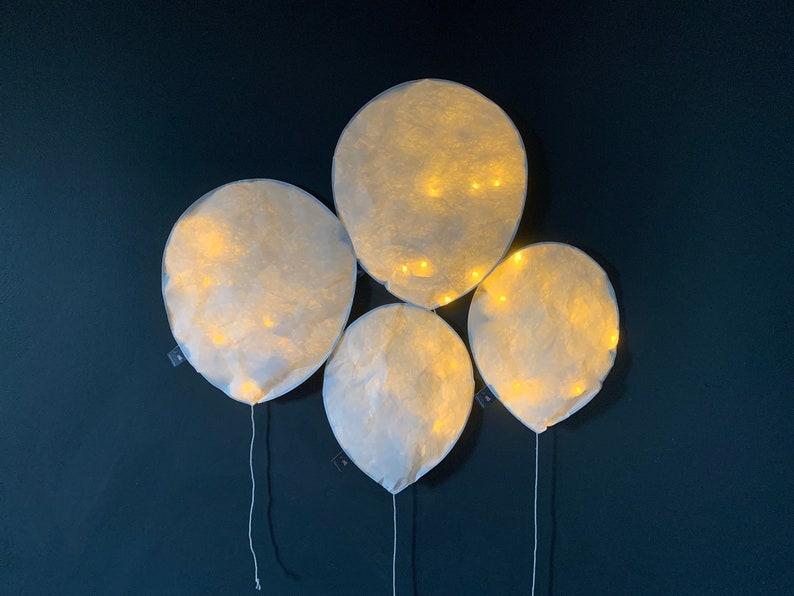 Un sacco di 4 palloncini di luce bianco LED lampada da carta jTW6LOQr