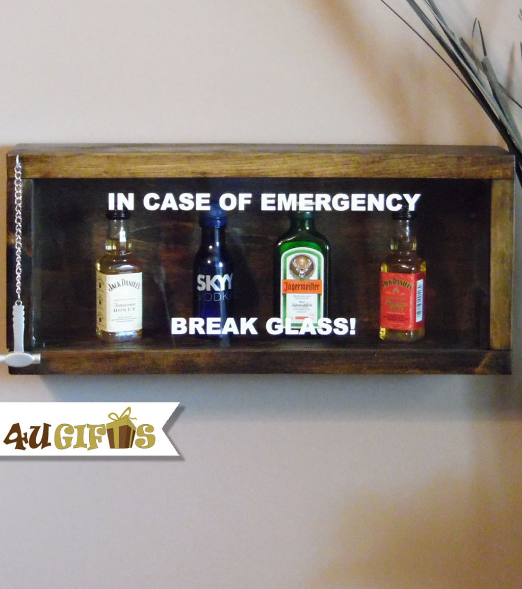 In Case Of Emergency Break Glass Custom Shadow Box 21st Etsy