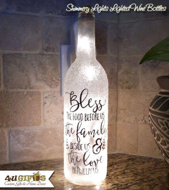 Beleuchteten Weinflasche Thanksgiving Dekor Verziert | Etsy