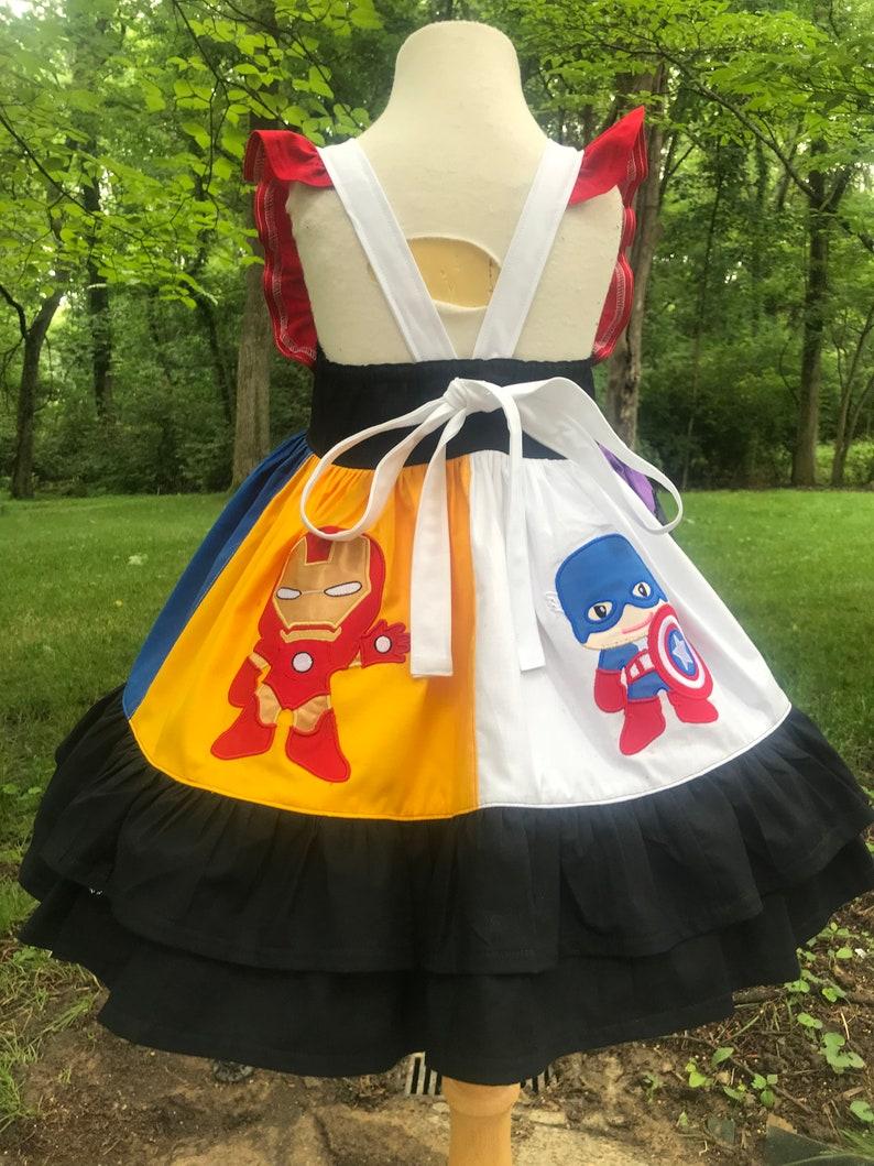Superhero Themed Nova by Hoot n Hollar Children/'s Clothing Sz 2-14