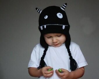 503415be1e6 Kids Monster hat - Child knit hat - Infant monster hat - Baby monster  knitted hat