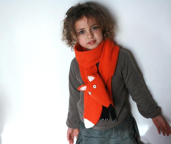 Orange Fuchs Schal stricken Kinder Fuchs Schal Tier | Etsy